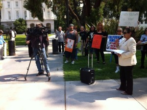 Families deliver over 70,000 petition signatures to Governor Jerry Brown's office demanding an end to solitary confinement.