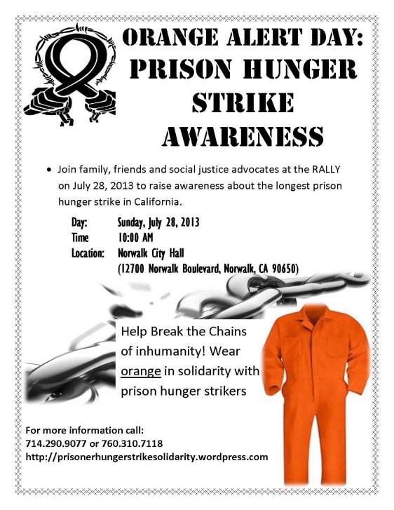 Flyer for Orange Alert Day
