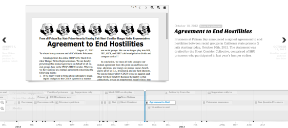 Click here to explore the interactive timeline of California's prisoner hunger strikes.