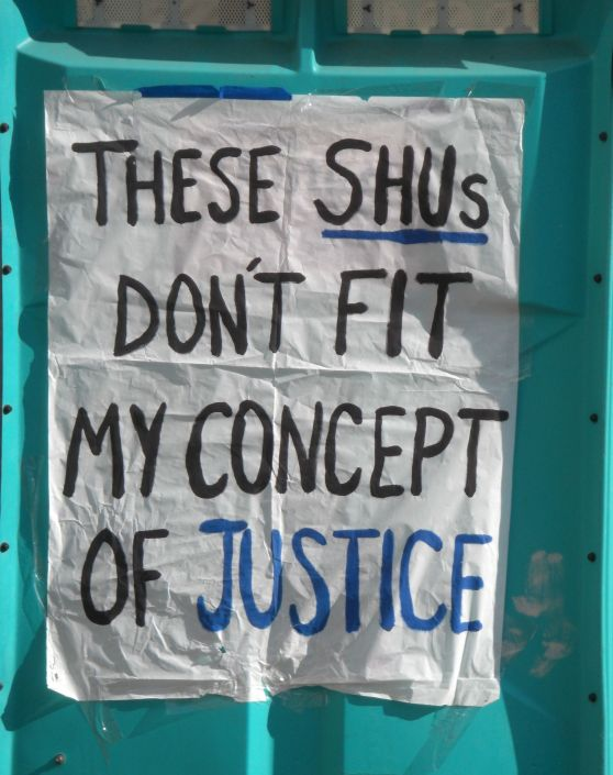 Poster: These SHUs Don't Fit My Concept of Justice