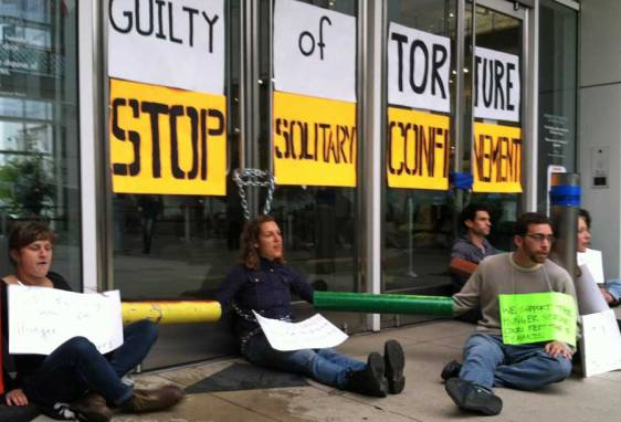 In front of the Oakland state office bldg Aug 5 2013