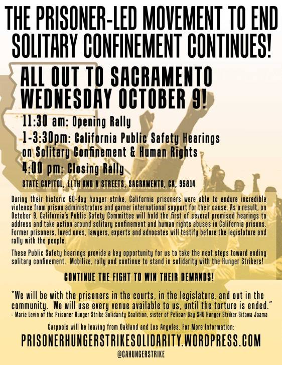 Flyer for Sacramento mobilization