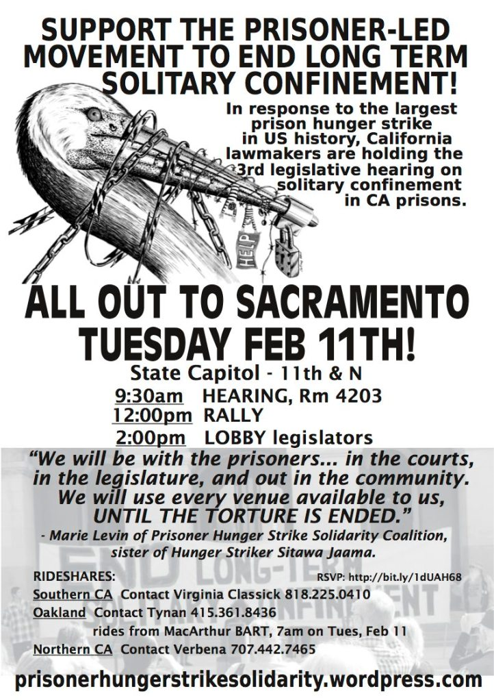 Flyer for CA legislative hearing & rally Feb 11 2014