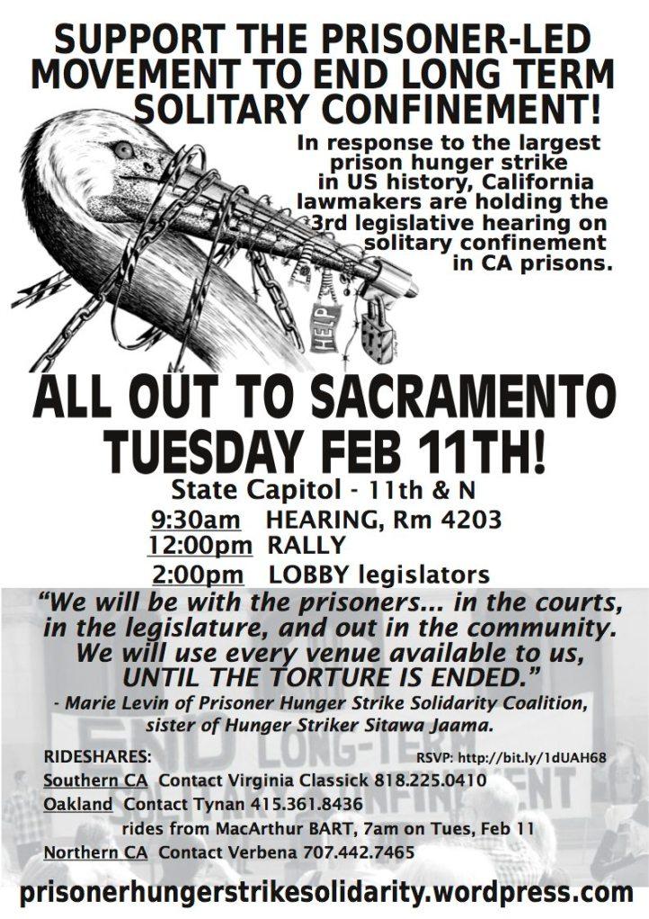 Flyer for CA legislative hearing & rally Feb 11 2014